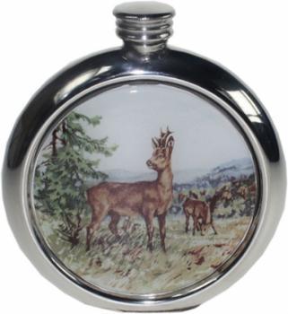 6oz Round Picture Flask, Game