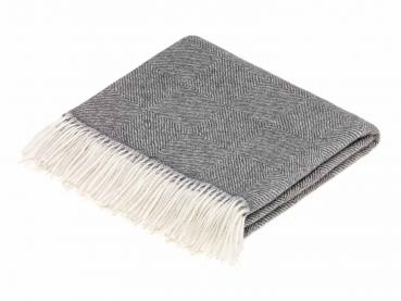 Bronte by Moon Throw Alpaca Diamond Herringbone Grey