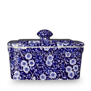 Butter Dish, Burleigh Blue Calico