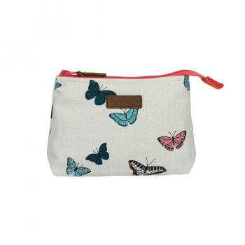 Sophie Allport Canvas Makeup Bag, Butterflies