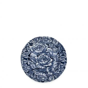 Tea Plate - Burleigh, Ink Blue Hibiscus