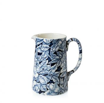 Two Pint Tankard Jug - Burleigh, Ink Blue Hibiscus
