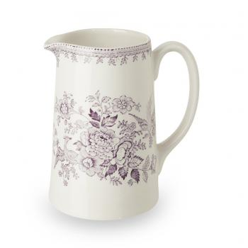 Tankard Jug, Medium, Burleigh Plum Asiatic Pheasants
