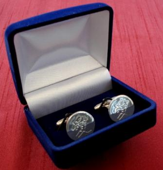 Silver Plated Cuff Links - Love