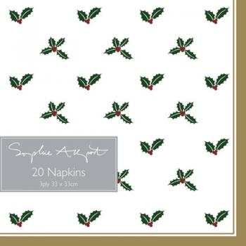 Sophie Allport Napkins Holly & Berry
