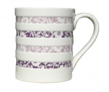 Plum Calico Hooped Mug