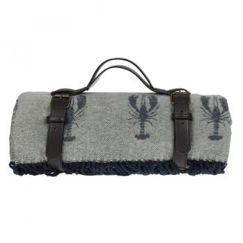Sophie Allport Knitted Picnic Blanket, Lobster