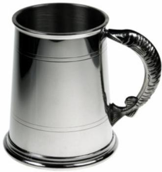 Pewter Tankard - Fish Handle