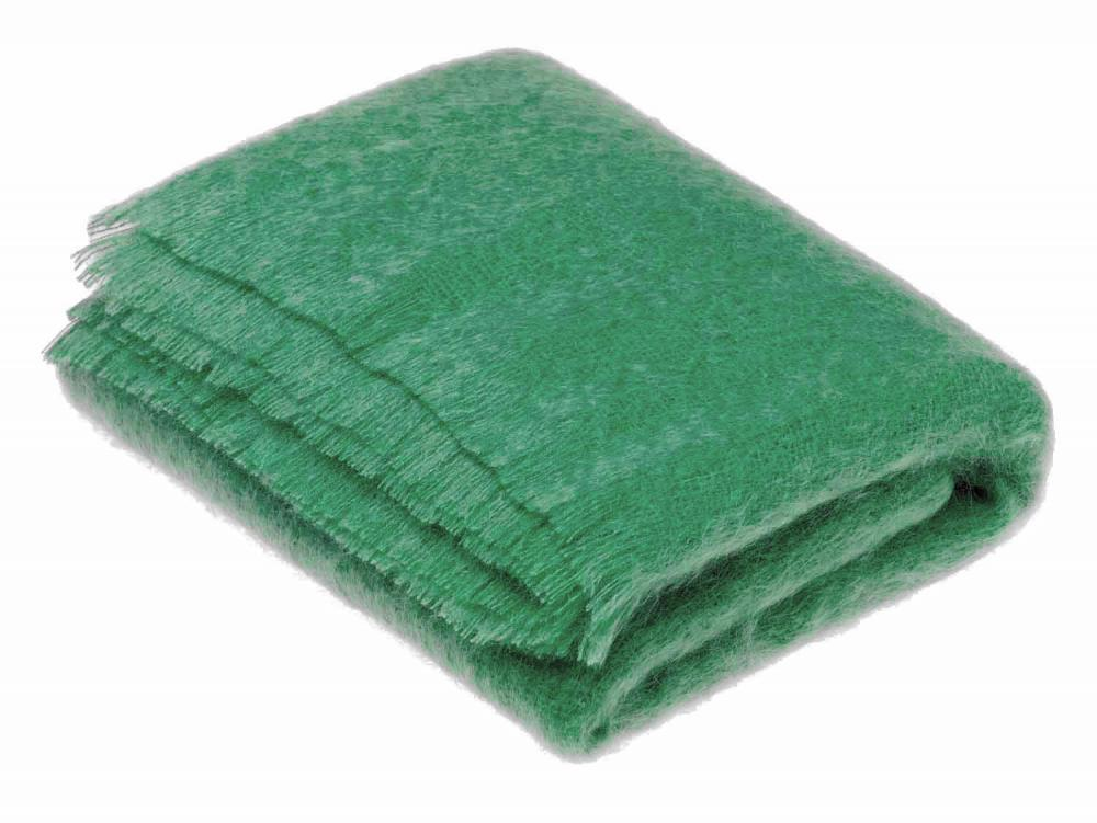Bronte by Moon Mohair Throw Green