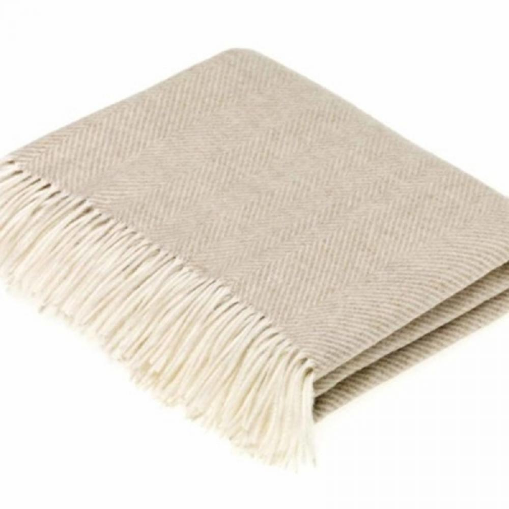 Bronte by Moon Throw Herringbone Beige