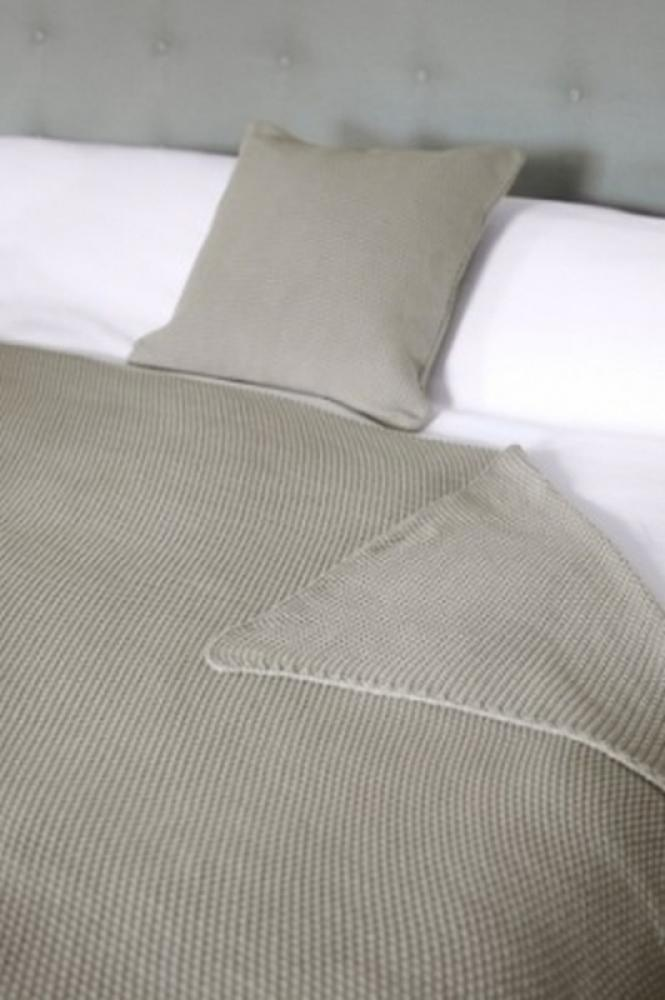 Sophie Allport Grey Taupe Knitted Cushion