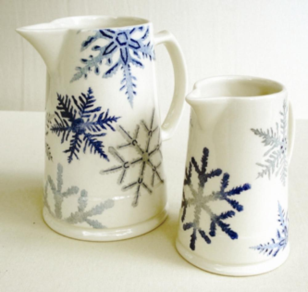 snowflake mulled wine mug