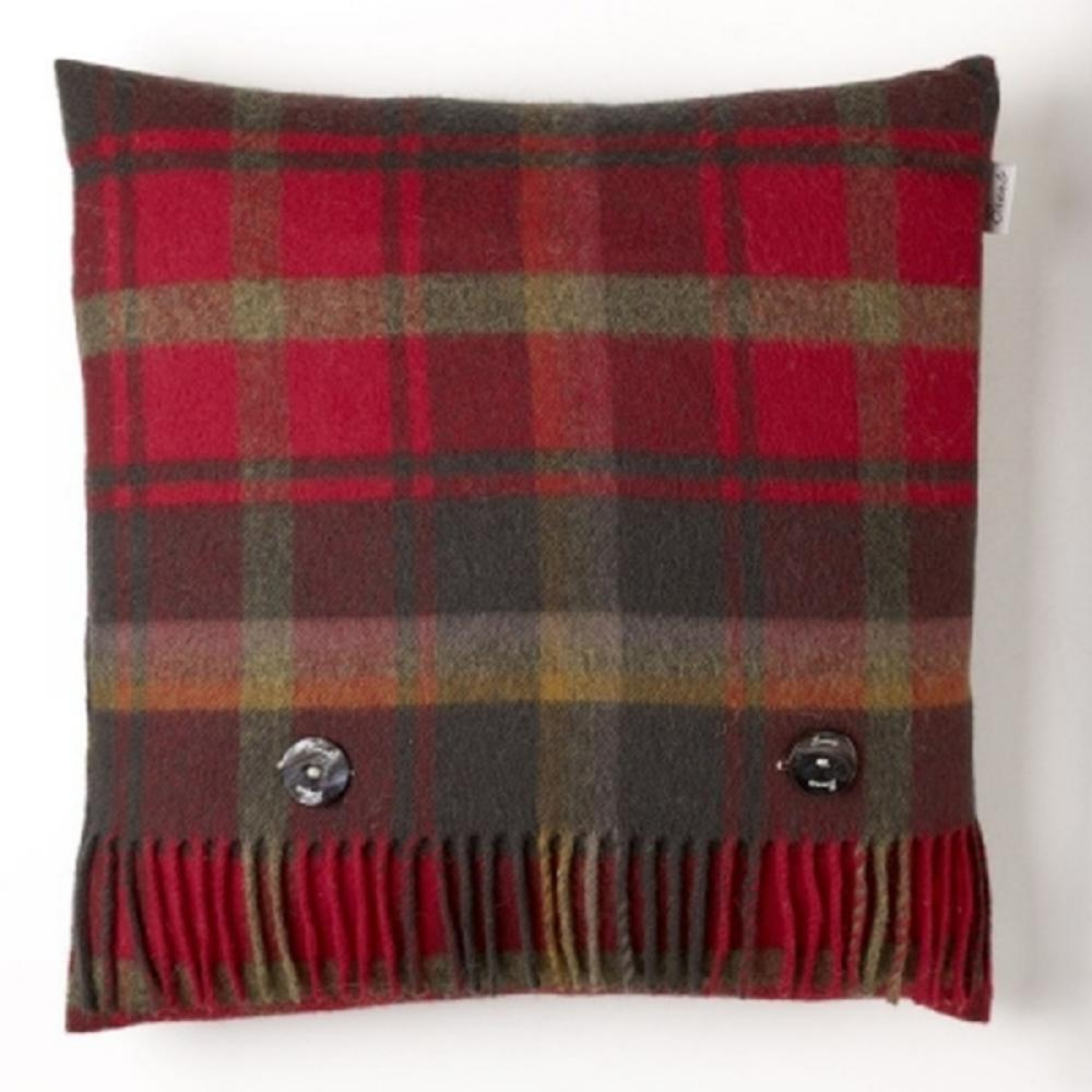 Bronte by Moon Cushion Tartan Dark Maple